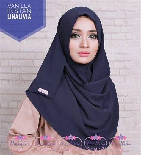 Jilbab Instan Vanilla Vanilla Pasmina Instan Lina Livia