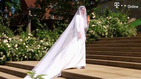 hochzeitskleid megan meghan markle bezaubert in ihrem brautkleid