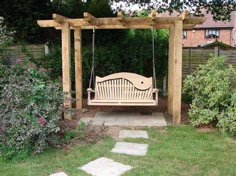 free standing bench swing 10 beautiful wooden garden swing ideas houz buzz
