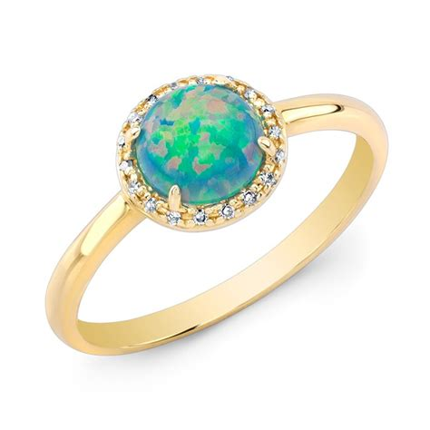 sisteron 14kt yellow gold green opal