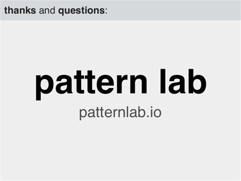 patternlab grunt the why and what of pattern lab