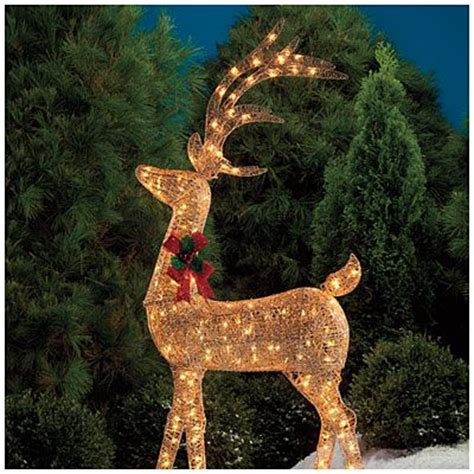 images of christmas lite deers outside 60 quot glittering chagne lighted deer deer chagne and outdoor decor