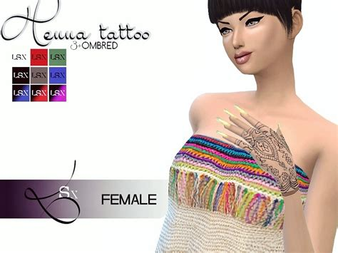 lsx s henna tattoo female
