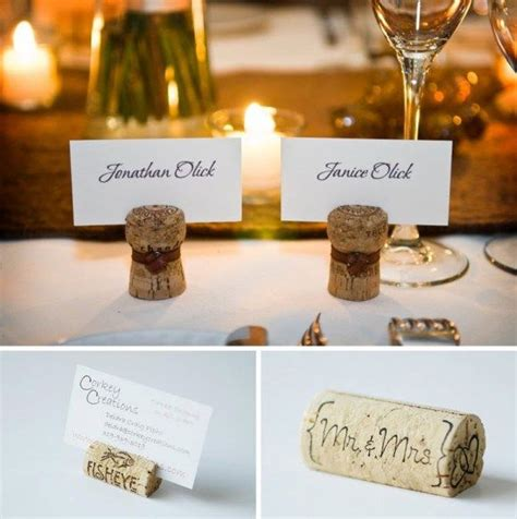 how to make cork place card holders wine cork name place holders diy ideas