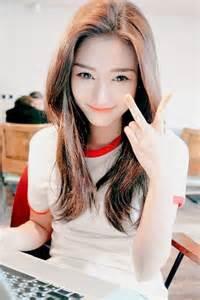 Coral Bed Skirt Korean Girls In White Shirt Gorgeous Women In Plain T