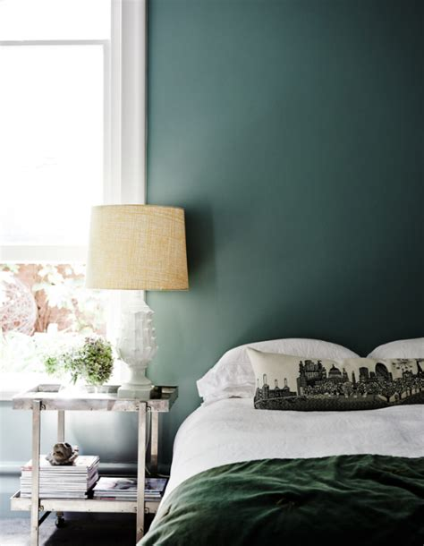 green bedroom walls this forest green bedroom plays perfectly with the balance