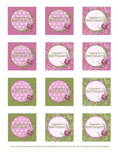 printable party toppers free printable birthday cupcake toppers