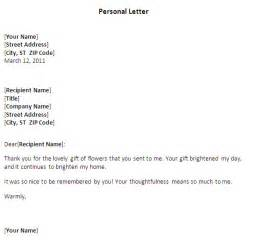formatting a personal letter best template collection