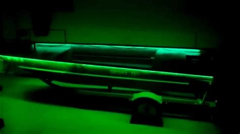 duck boat led interior lights duck boat modification green led lights youtube