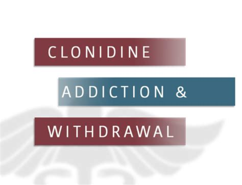 Using Clonidine For Detox by Prescription Relaxers That Are And Cause