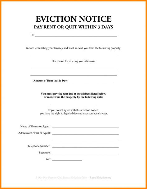 3 Day Eviction Notice Florida Beneficialholdings Info Free 3 Day Notice Template