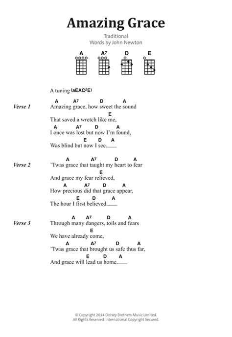 printable lyrics amazing grace amazing grace sheet music by traditional banjo lyrics