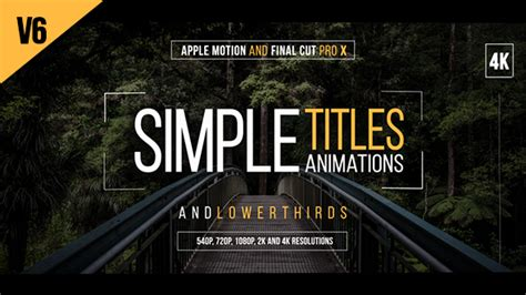 30 simple titles for final cut pro x free after effects