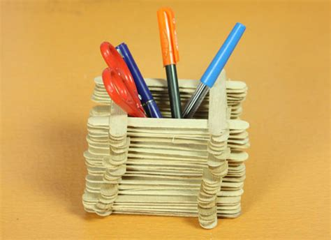 How To Make Pen Stand Using Paper - decorative crafts project ideas 123peppy