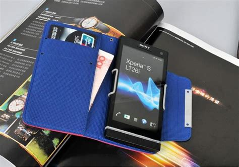Leather Flip Cover View Sony Experia C Original Ume original kalaideng wallet leather for sony xperia s