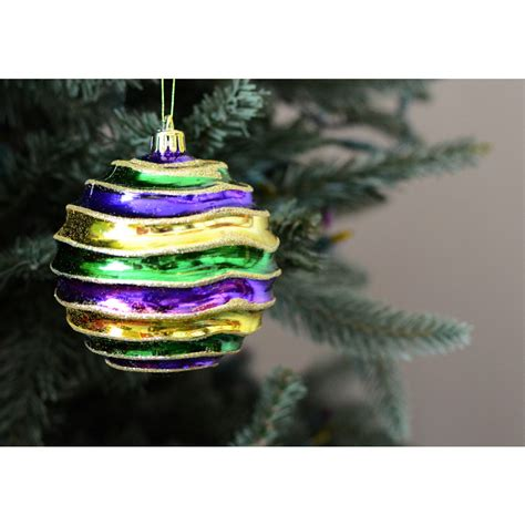 mardi gras groove ball ornament 100mm xy495858