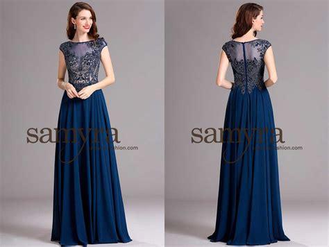 Brautmode Abendkleider by Blaues Abendkleid Reich Verziert Samyra Fashion