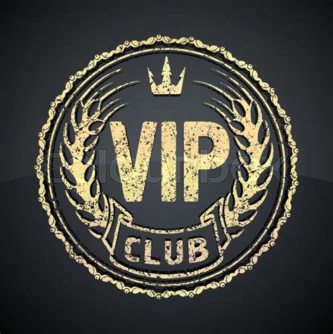 boat show vip vip club icon or logo design with crown and ears in gunge