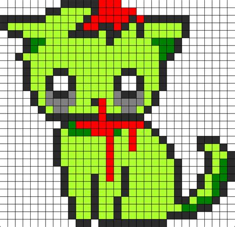 cute zombie pattern zombie kitty perler bead pattern bead sprites animals