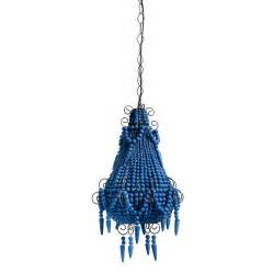 Wooden Bead Chandelier Blue Beaded Chandelier By Out There Interiors