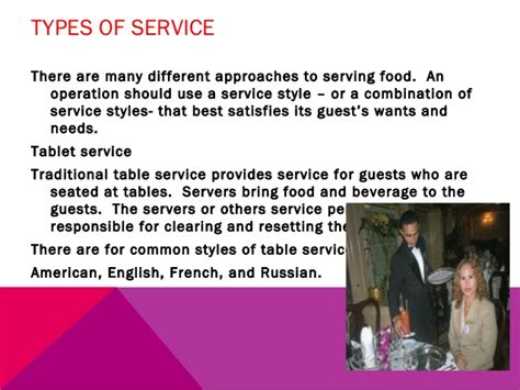 table service definition food beverage management