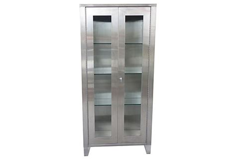 Industrial Stainless Steel Cabinets by Stainless Steel Industrial Display Cabinet Modernism