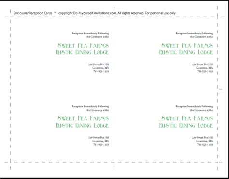 templates for card inserts wedding invitation templates create easy diy invites