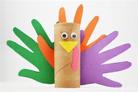 Turkey Toilet Paper Roll Craft - easy craft paper roll turkeys artsy fartsy