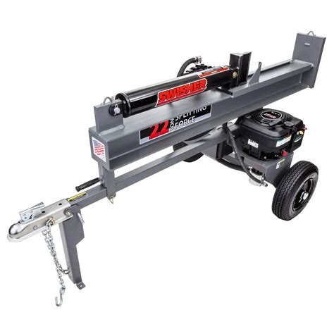 wen 6 ton 15 electric log splitter 56206 the home depot