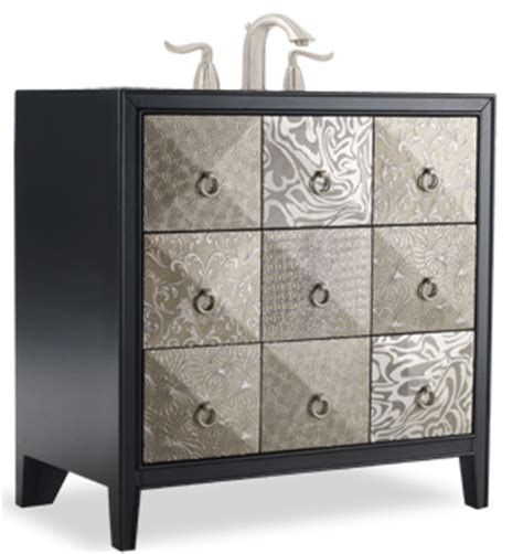 cole and company bathroom vanities a selection of designer bathroom vanities with metallic accents for superior style in
