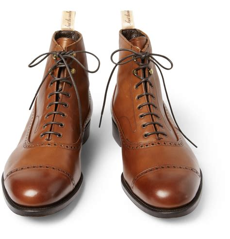 oxford boots lyst foot the coacher grenson balmoral leather oxford