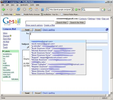 Search Gmail Addresses Gmail Screenshots