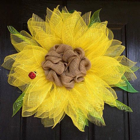 paper mesh flower wreath tutorial trendy sunflower mesh wreath flower mesh from