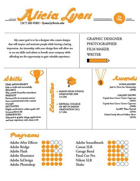 exles of creative graphic design resumes infographics
