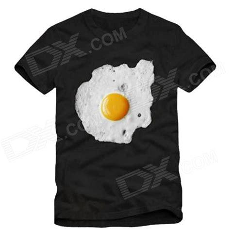 egg pattern shirt fried egg pattern cotton t shirt for men black size xl