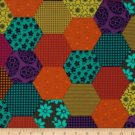Fabric Patchwork - michael miller woods patchwork