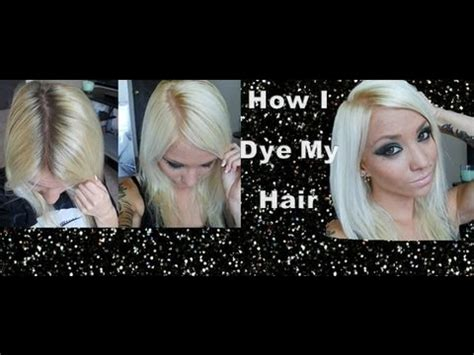 best box color forblondes how i dye my hair platinum blonde youtube