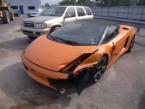 Damaged Lamborghini For Sale Salvage Lamborghini Gallardo 5 0l 10 2008 Brookhaven Ny