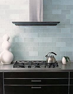 Frosted Glass Backsplash In Kitchen Frosted Sky Blue Glass Subway Tile
