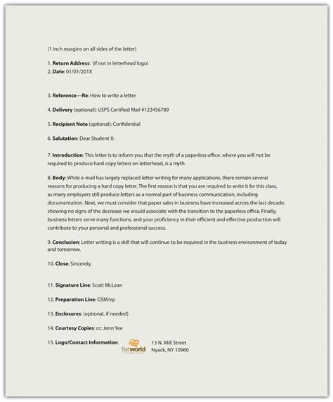Business Letter Format Sent Via Email Business Letter Format Cc Via Email