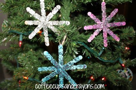 christmas kids craft homemade snowflake ornaments