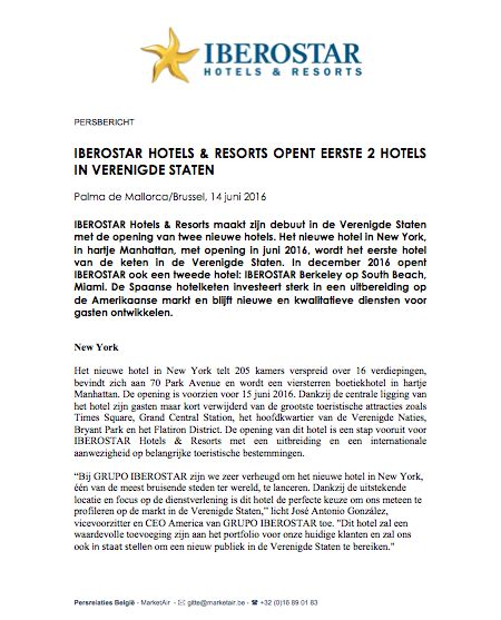 new year hotel press release press releases iberostar hotels resorts marketair