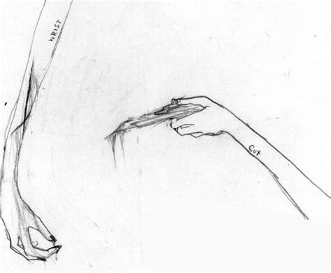 Wrist Cutting Drawings
