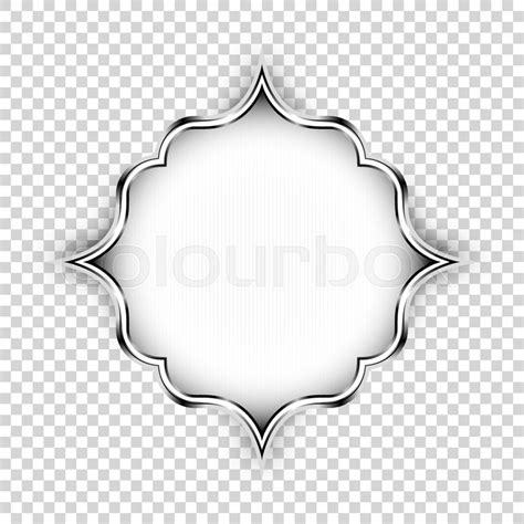 Anting Tusuk Inspired Shape Design vector silver shape decorative design element islamic ornamental floral label with lights