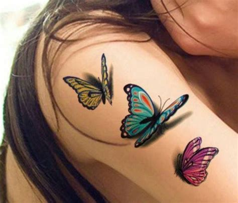 butterfly tattoo extension 3 d butterflies tattoo beauty salon pinterest tattoo