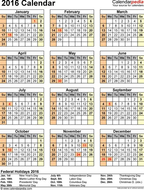 printable monthly calendar 2016 with indian holidays 2016 calendar 16 free printable word calendar templates