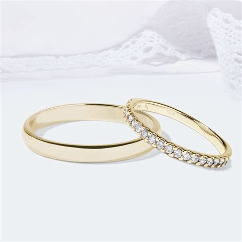 Hochzeitsringe Gelbgold by Klenota Hochzeitsringe Aus Gelbgold Mit Diamanten