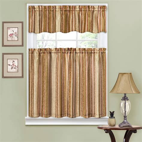 kitchen curtain set fleetwood kitchen curtains set of 2 with valence