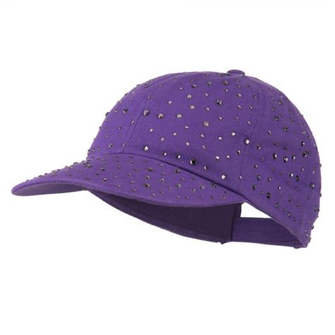 cap purple bejeweled glitter baseball cap e4hats