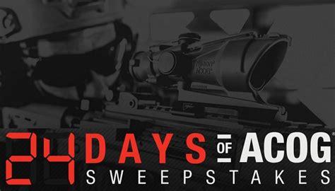 Acog Sweepstakes - trijicon 24 days of acog sweepstakes sweepstakesbible